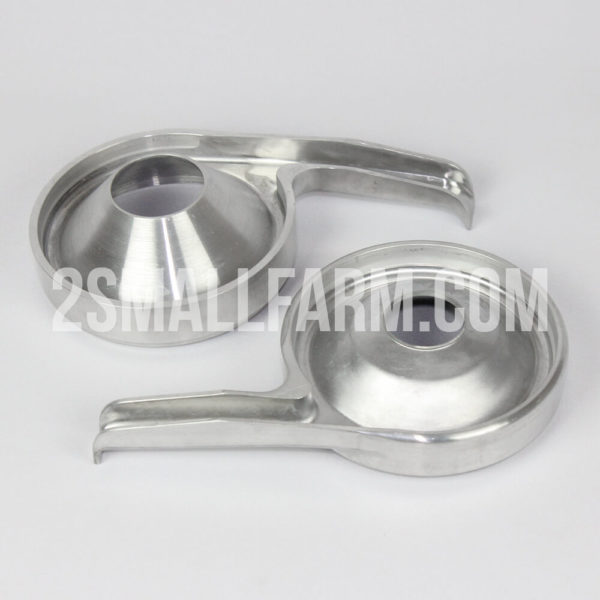 Metal skim milk receiver and cream receiver for electric centrifugal separator motor sich